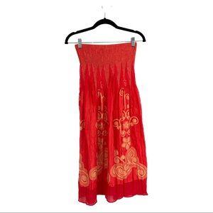 Lapis Strapless Beach Cover-up, Dress or Skirt